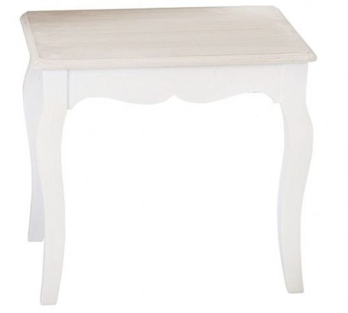Marseilles White Dressing Table Stool